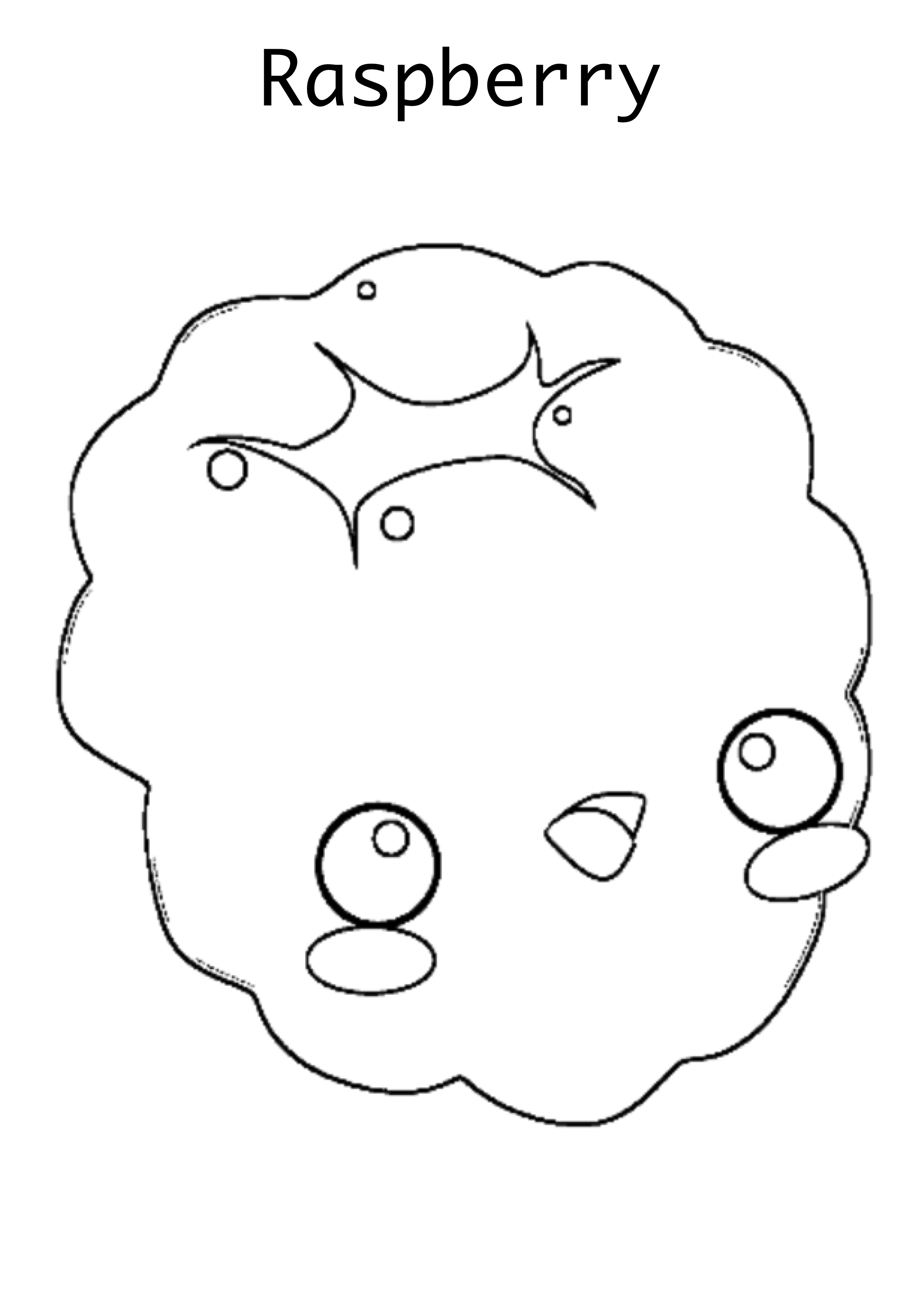 Raspberry Coloring Page Coloring Pages Fruit Coloring Pages Color