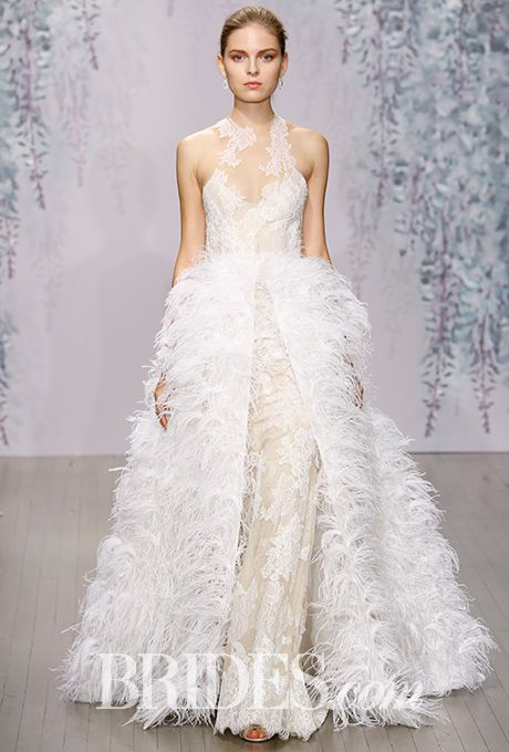 Monique lhuillier fall 2016 monique lhuillier wedding dress and brides monique lhuillier wedding dresses fall 2016 bridal runway shows brides junglespirit Gallery