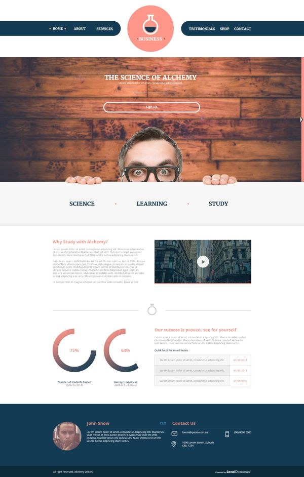 Website Template - Alchemy on Behance
