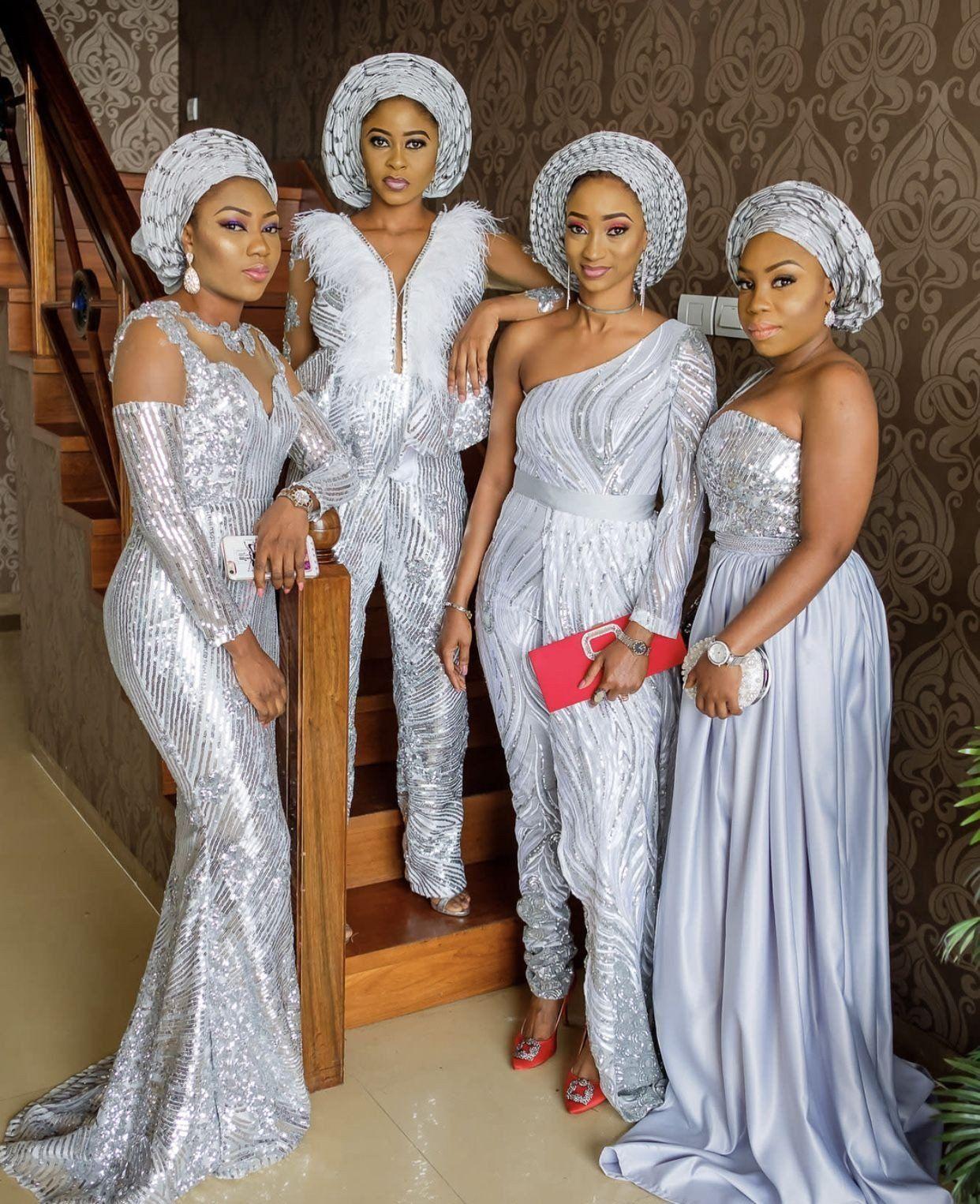 Nigerian Traditional Wedding Dress Unique Asoebi Styles My African Kings Queens In 2020 African Fashion Dresses African Bridesmaid Dresses Nigerian Wedding Dress