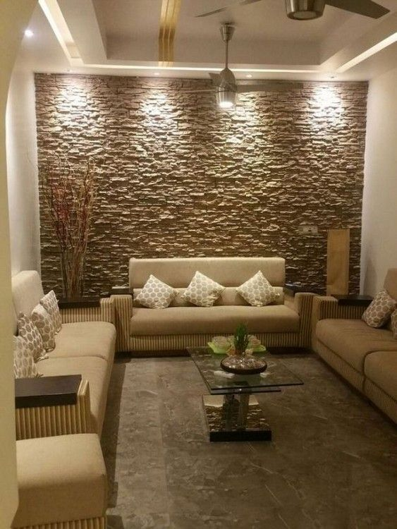 20 Modern Living Room Design And Decoration Ideas Stone Wall Interior Design Interior Wall Design Living Room Design Modern