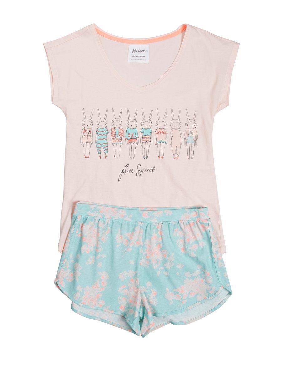 women'secret   Lots of fun   Neon Fun   Short pyjama with funny printed