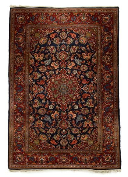 Kashan Rug Central Persia Circa 1930 6 Ft 10 In X 4 Ft 5 In