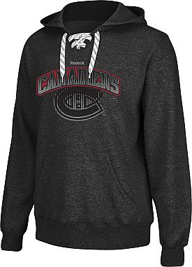 Reebok Montreal Canadiens Accelerator Lace Hoodie Shop Canada Nhl Com Nhl Apparel Hockey Clothes Hoodies Shop