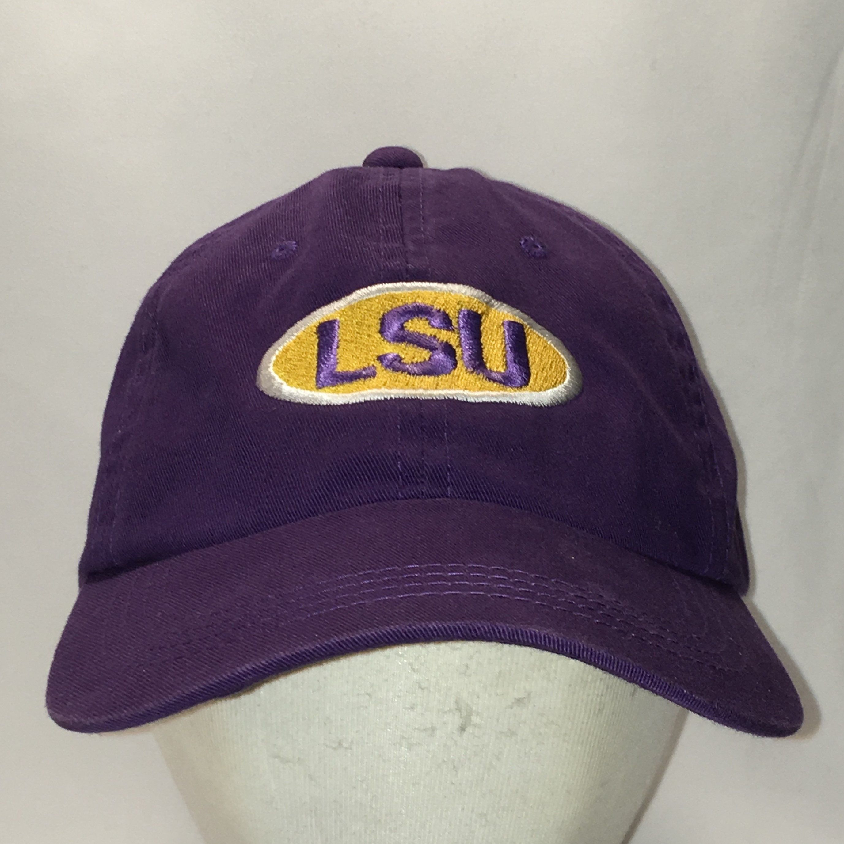 size 40 c3681 bdbca LSU Tigers Hat Purple Gold White Baseball Cap Vintage NCAA Dad Caps  Louisiana State University College