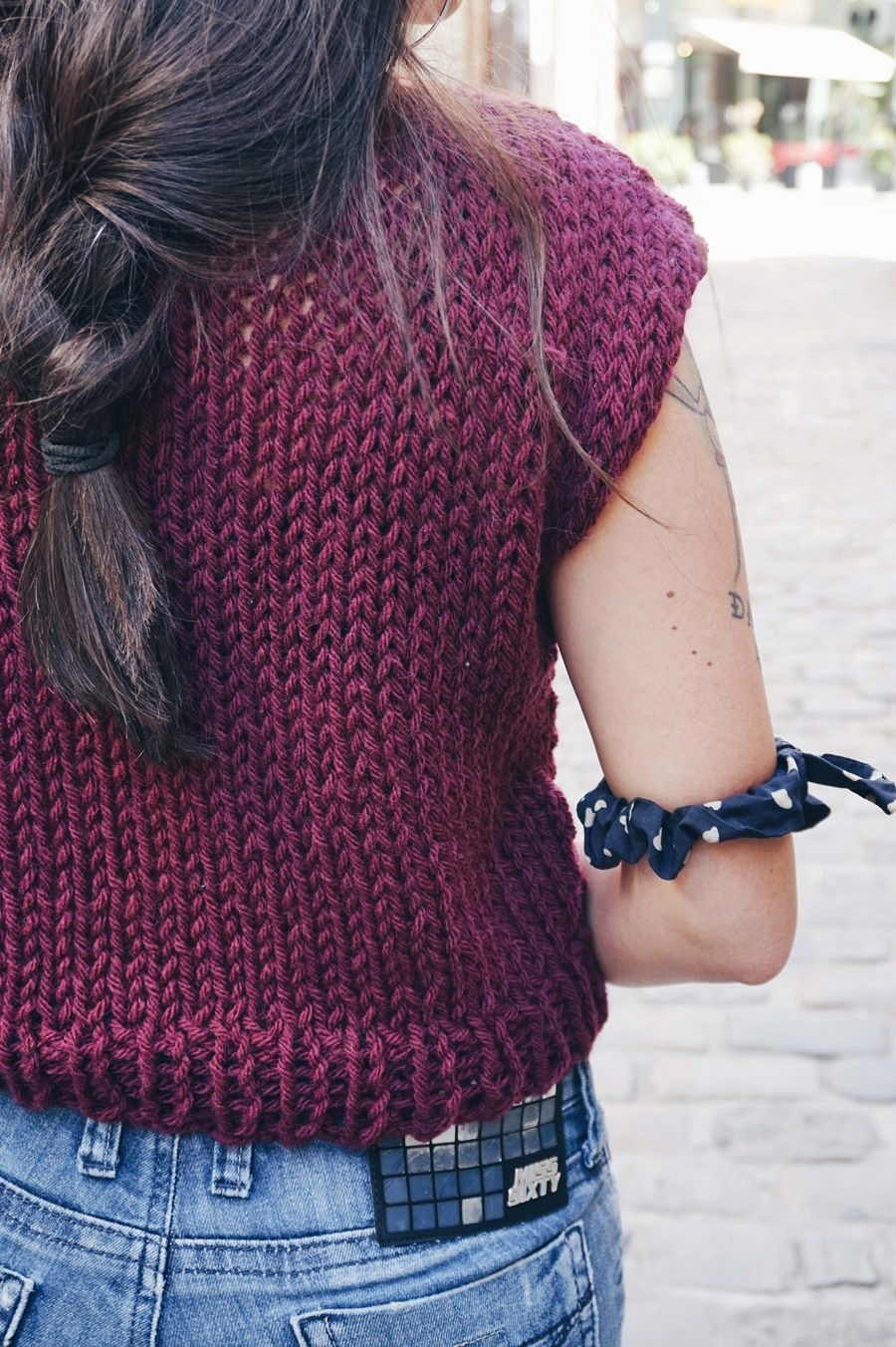 DIY KNIT CROP TOP PATTERN - Little Things Blogged | Knitting ...