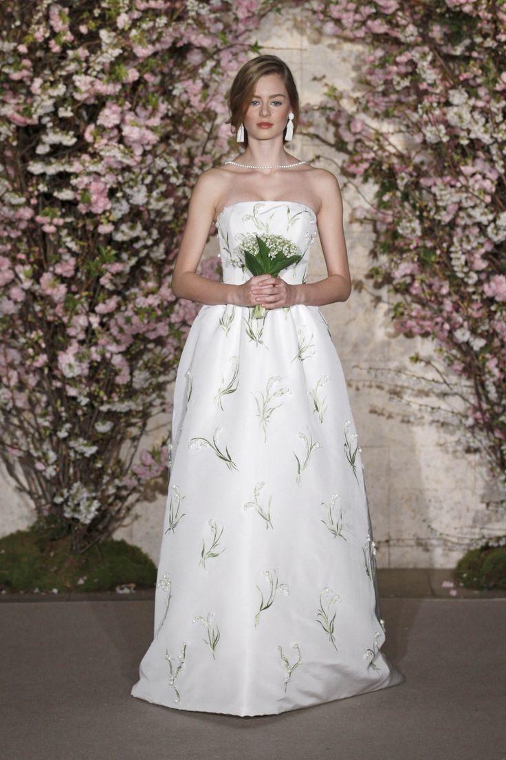 Lily Of The Valley Floral Wedding Gown With The Same Flower