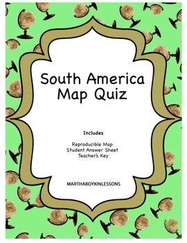 Geography South America Quiz Middle School High School