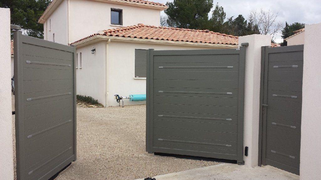 Portail Battant Zen By Bel M Motorise Et Portillon Assorti En