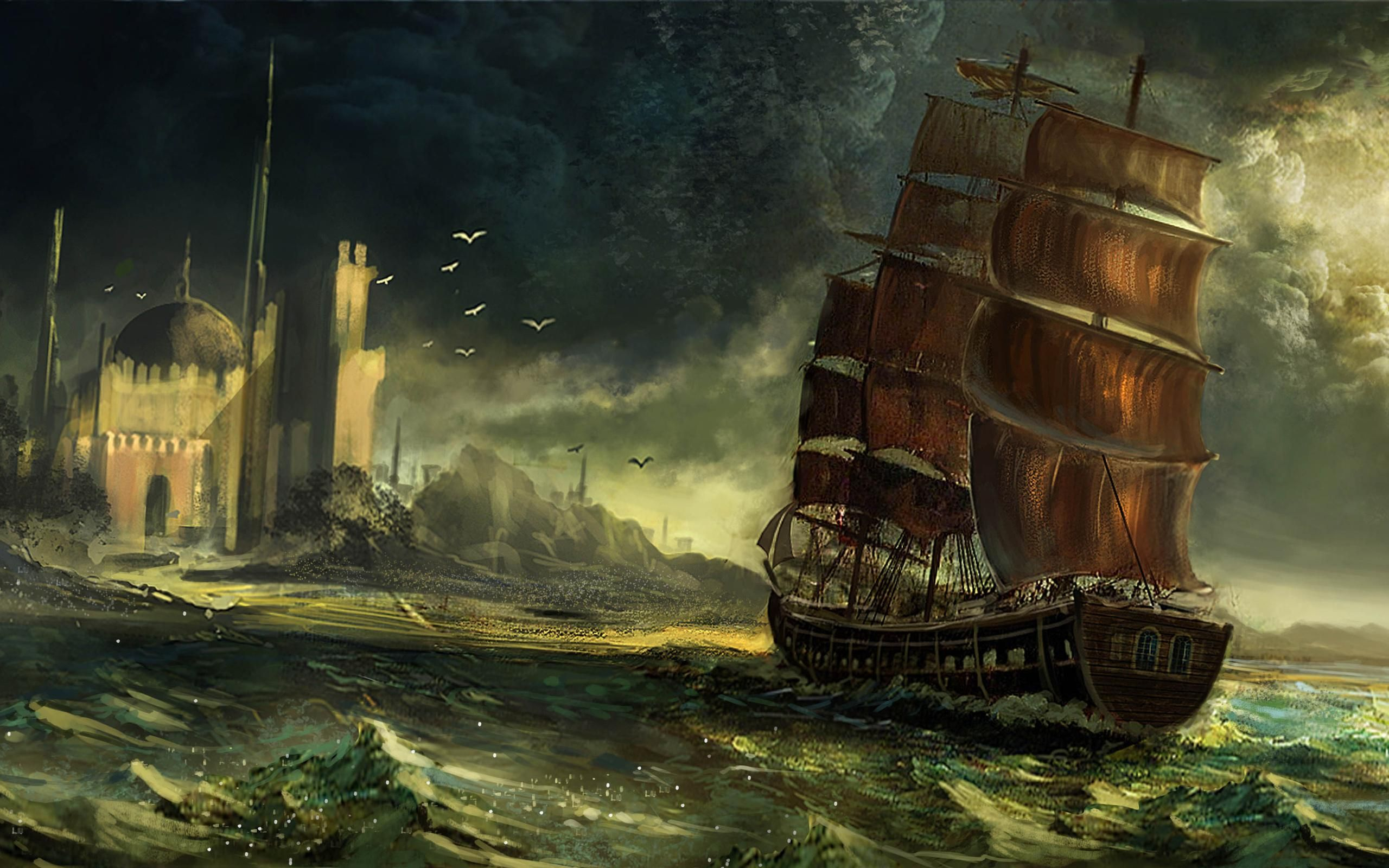 pirate ship k8ni 2560x1600 px 41563 kb other ghost