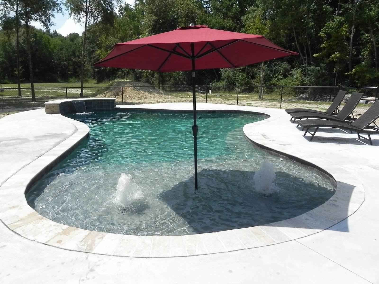 Swiming Pools Red Pool Umbrella With
