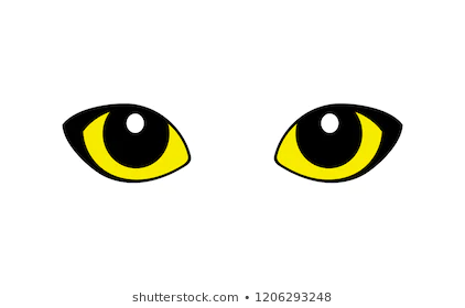 Set Of Funny Cartoon Blue Cat Eyes Isolated On White Vector Illustration Cat Eyes Drawing Cartoon Drawings Eye Drawing