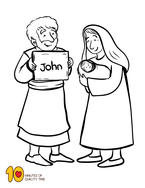 The Birth Of John The Baptist Coloring Page John The Baptist Sunday School Kids Sunday School Activities
