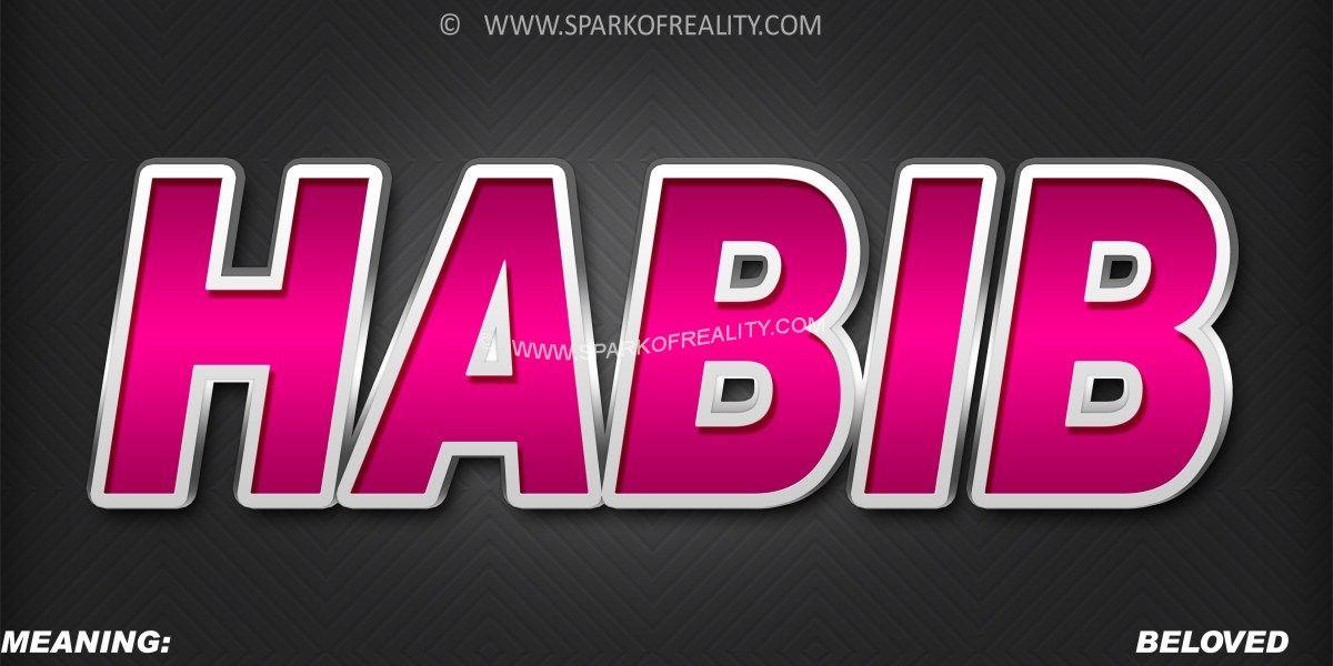Habib Name Wallpaper Muslim Boy Names Text Art