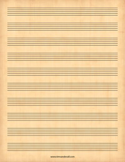 Printable Sheet Music  Printables    Printable Sheet