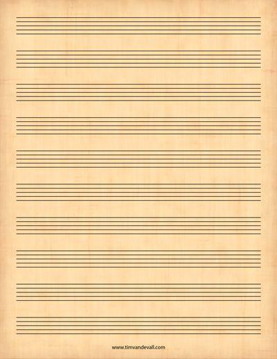 Printable Sheet Music  Printables    Printable Sheet