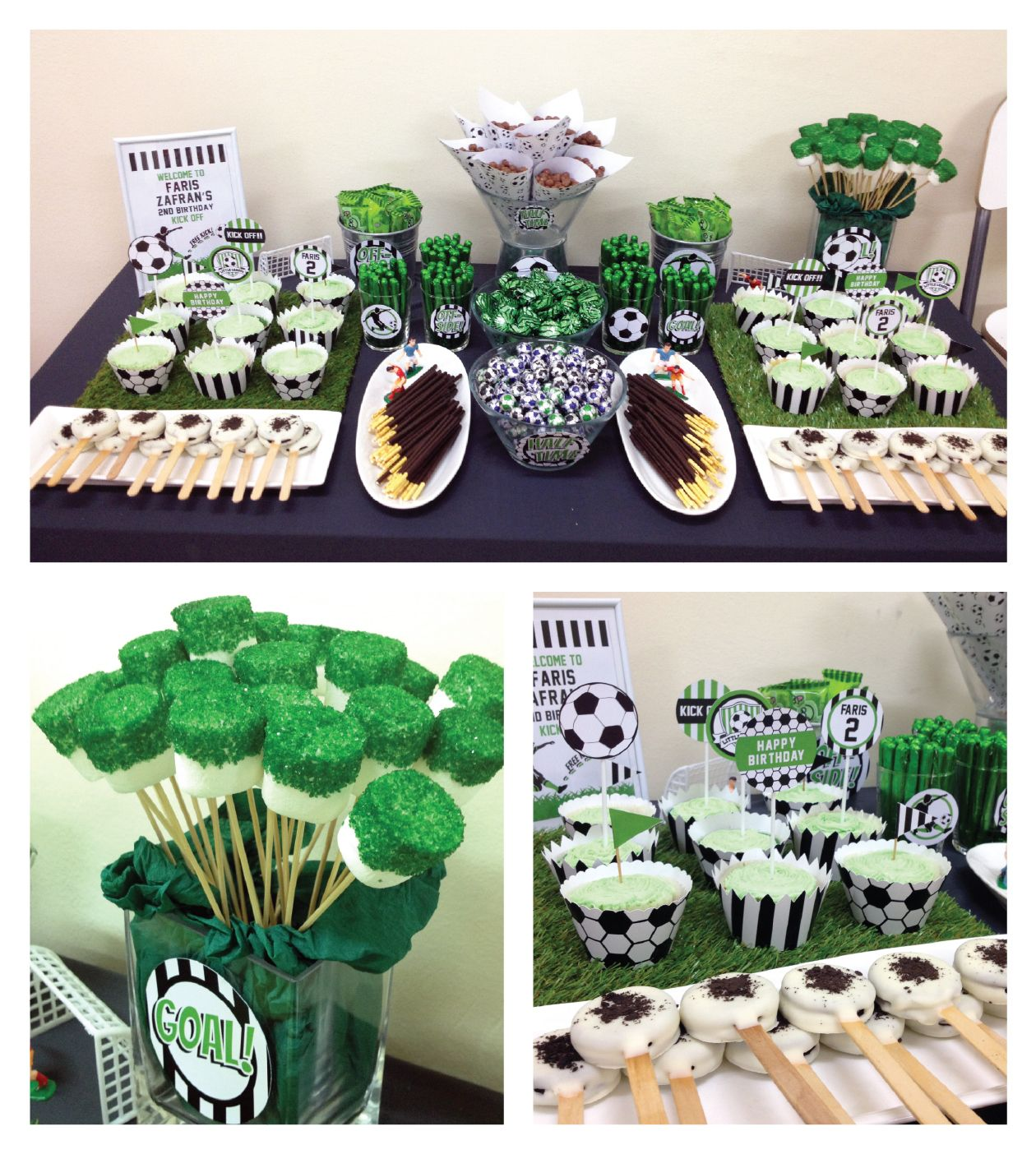 Soccer Party For 2 Year Old Zafran Soccer Theme Parties Soccer Birthday Parties Soccer Birthday