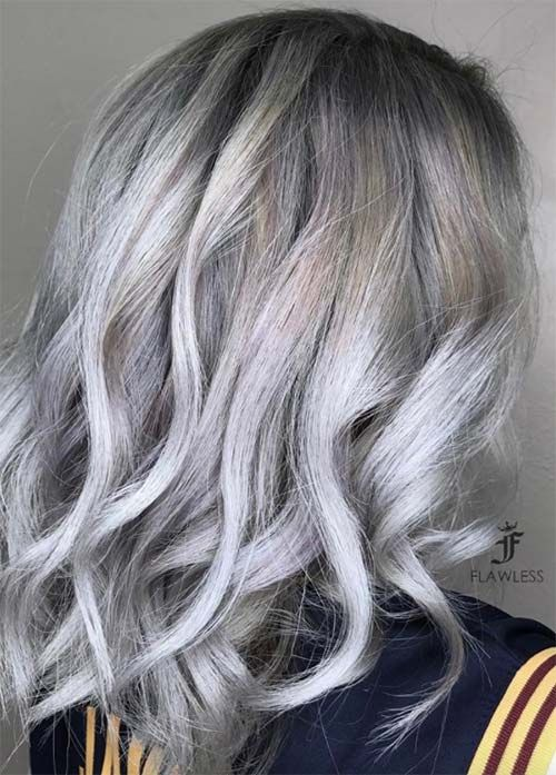 85 Silver Hair Color Ideas And Tips For Dyeing Maintaining Your Grey Hair Fashionisers C Silver Hair Color Grey Hair Color Blonde Hair With Silver Highlights