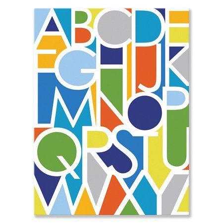 Oopsy Daisy - Canvas Wall Art Negative Space Letters - Boy 10x14 By Ampersand Design Studio - Walmart.com