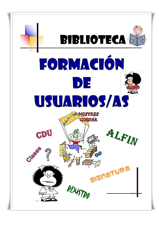Resultado de imagen de formación de usuarios bibliotecas escolares