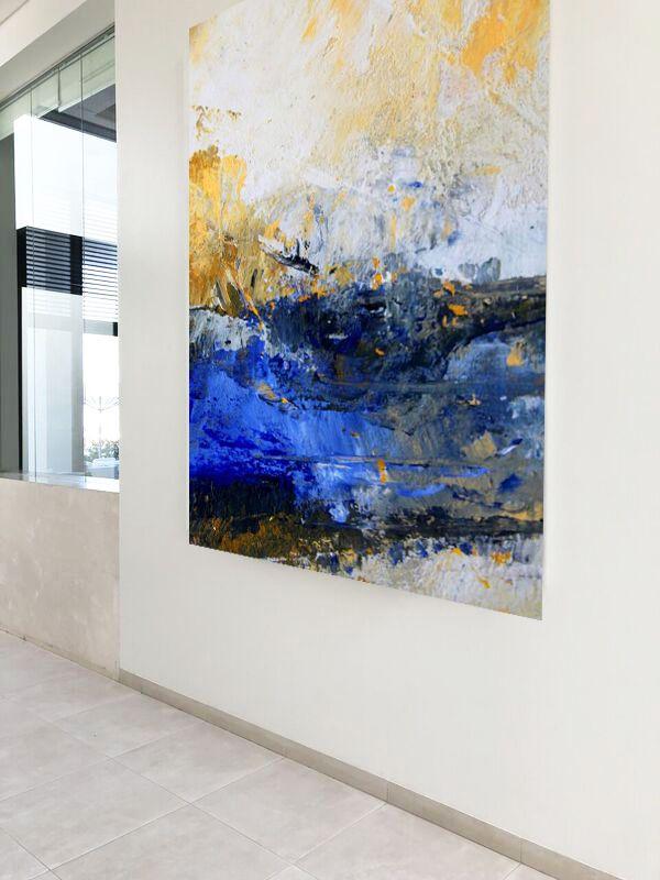 abstrakte malerei grossformatige kunst petra lorch achern germany abstrakt acrylbilder moderne gelbe bilder
