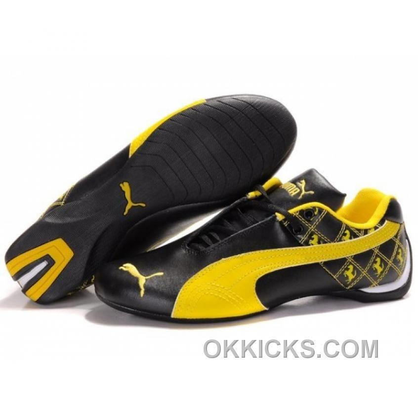 Herren Puma Future Cat Ferrari Patterns Black Yellow Top Deals