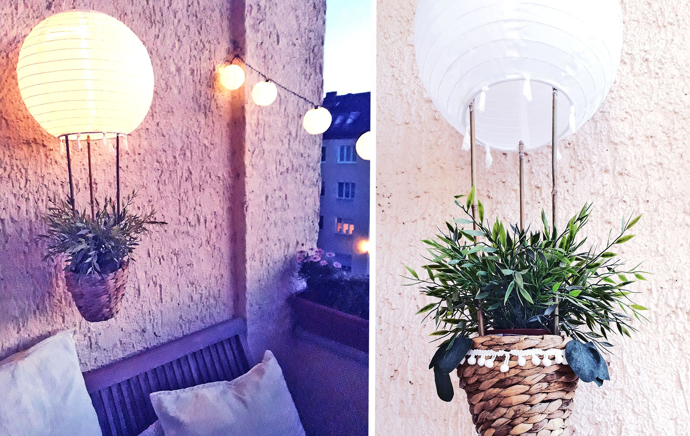 Diy Heissluftballon Solar Lampion Fur Balkon Garten Ikea Hack Aye Aye Diy Heissluftballon Lampions Ikea Lampen