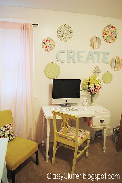I want a beautiful, girly, PINK PINK PINK, craft room. Houses can be ...