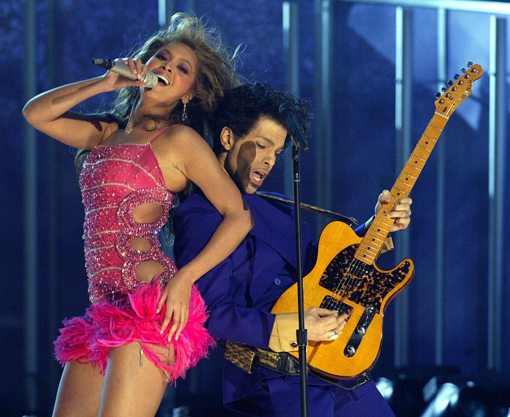 When he performed with Beyoncé and somehow managed to be sexier than her.  Prince Grammys 871a8b4e8f4