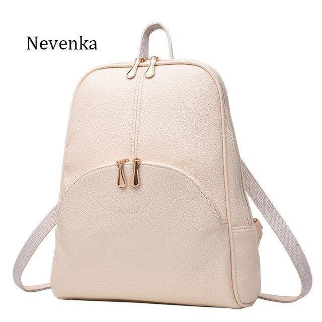 27d06ecde4ea Nevenka Women Backpack Leather Backpacks Softback Bags Brand Name Bag  Preppy Style Bag Casual Backpacks Teenagers Backpack Sac