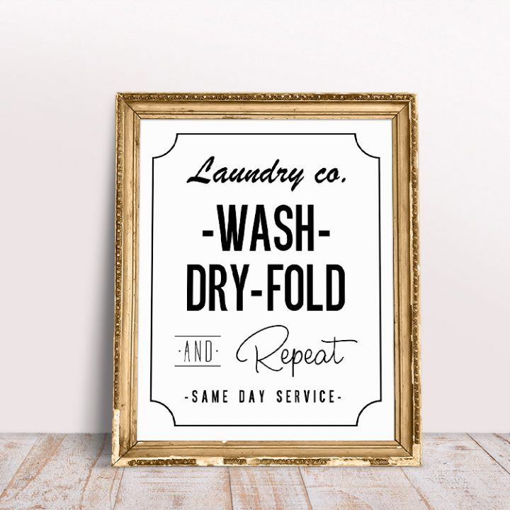 FREE Printable Laundry Room Wall Art images