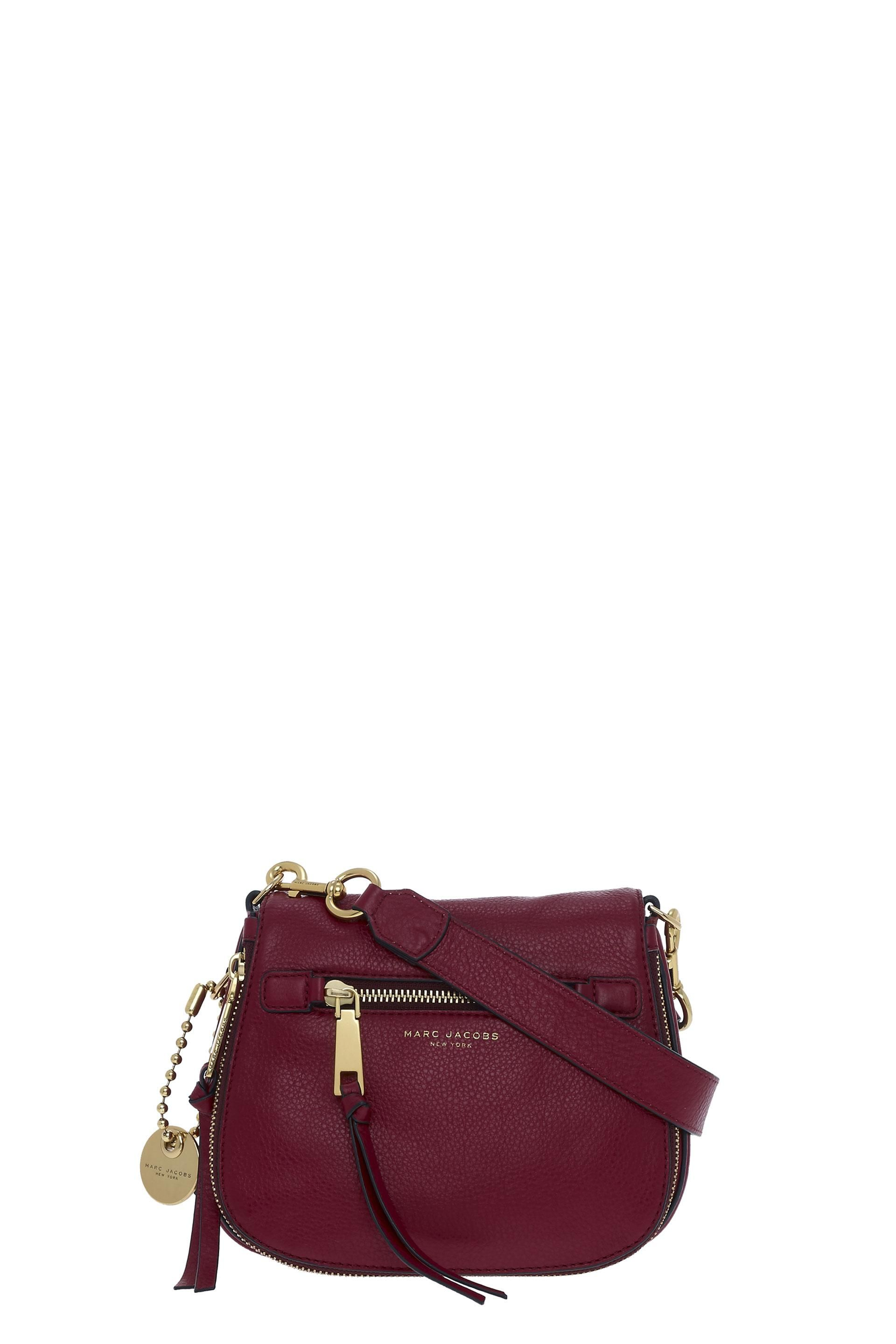 MARC JACOBS Recruit Small Saddle Bag.  marcjacobs  bags  shoulder bags   leather  polyester  crossbody  lining 8a1ff36f92
