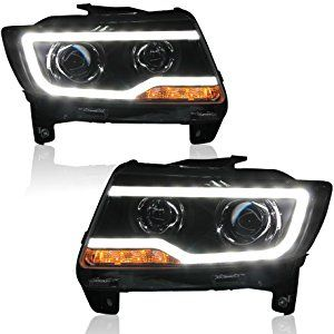 Win Power 2011 2013 Jeep Compass Grand Cherokee Headlight Assembly Replacement Kit With B Jeep Grand Cherokee 2012 Jeep Grand Cherokee 2011 Jeep Grand Cherokee