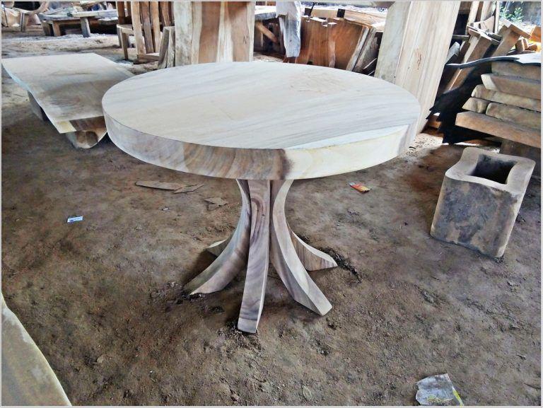 Coffee Table Meja Bulat Minimalis - HOOMDESIGN