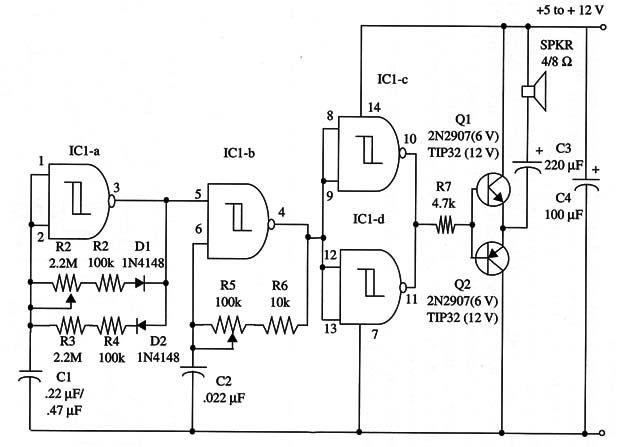 cd4093 water level sensor detector