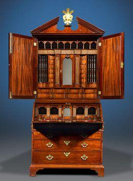 Antique Furniture English Furniture Chippendale Style Mahogany Secretaire M S Rau Antiques Meuble De Style Mobilier De Salon Secretaire