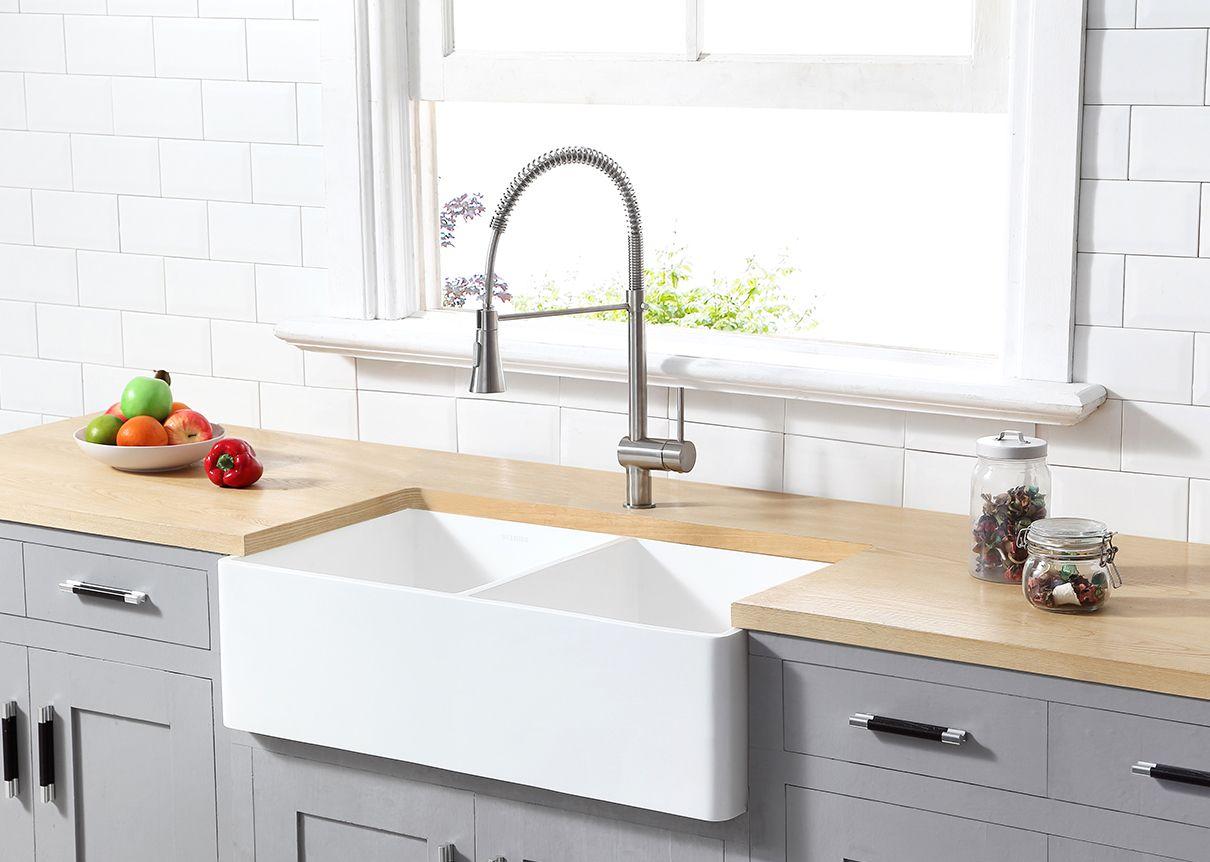 29++ 36 double bowl farmhouse sink model