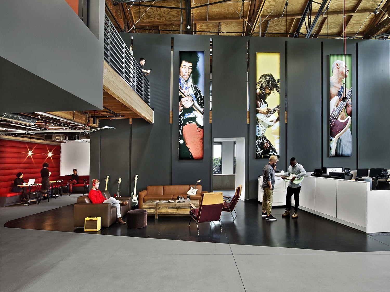 Fender An Iconic Musical Instruments Company That Manufactures Guitars Basse Interior Architecture Design Photographer Studio Interior Studio Interior Design