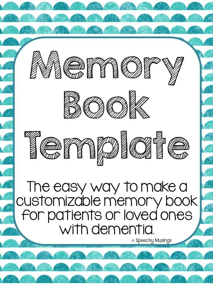 Memory And Orientation Books Speech Therapy Helps Dementia