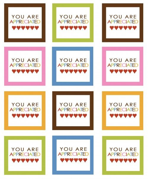 image regarding Free Printable Teacher Appreciation Tags titled Your self are Relished --No cost Printables For Instructor
