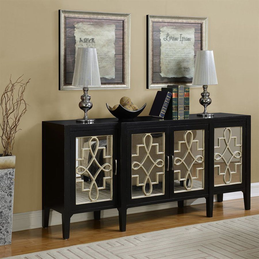 Coast To Coast Mansfield Black Silver Birch Sideboard Lowes Com Buffet Furniture Furniture Decor