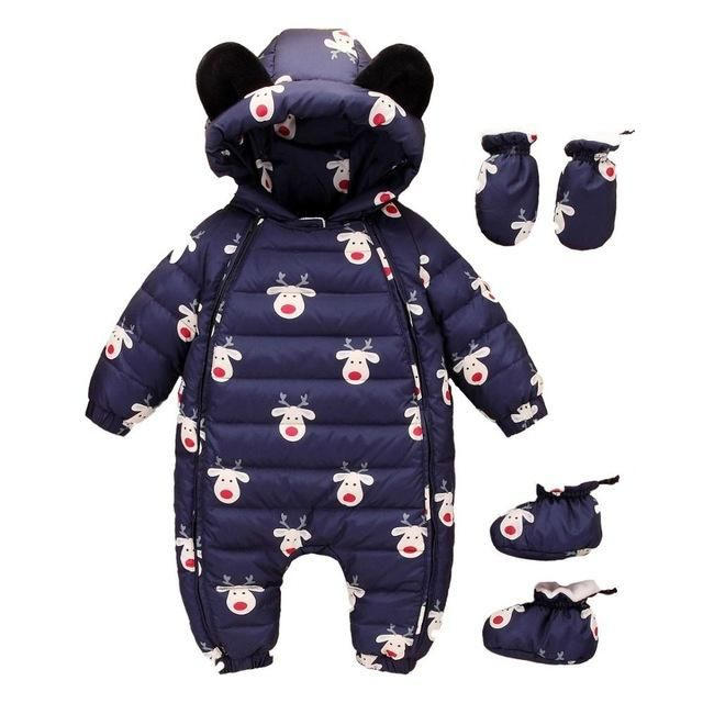 1bbbfcc3c0fa Baby clothing sets infant Boy Thick Jumpsuit baby girl Snowsuit ...