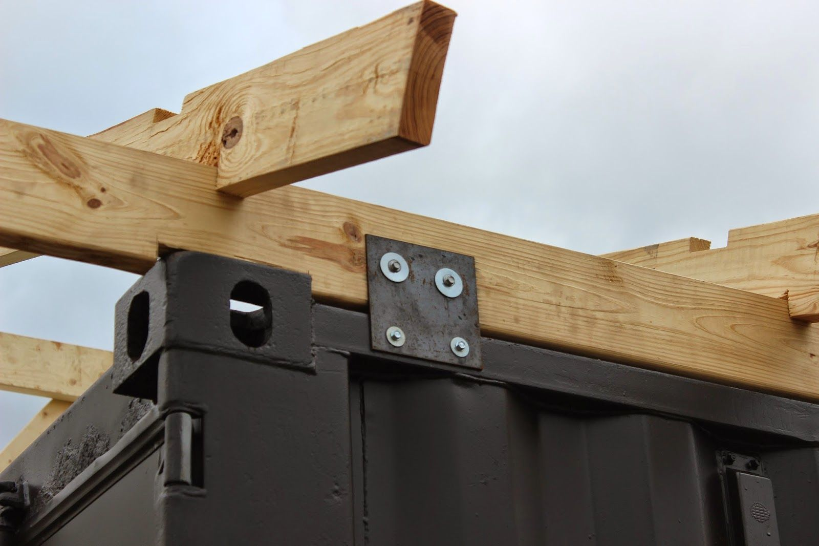 Shipping Container Cabin Amp Observatory Roof Attachment To