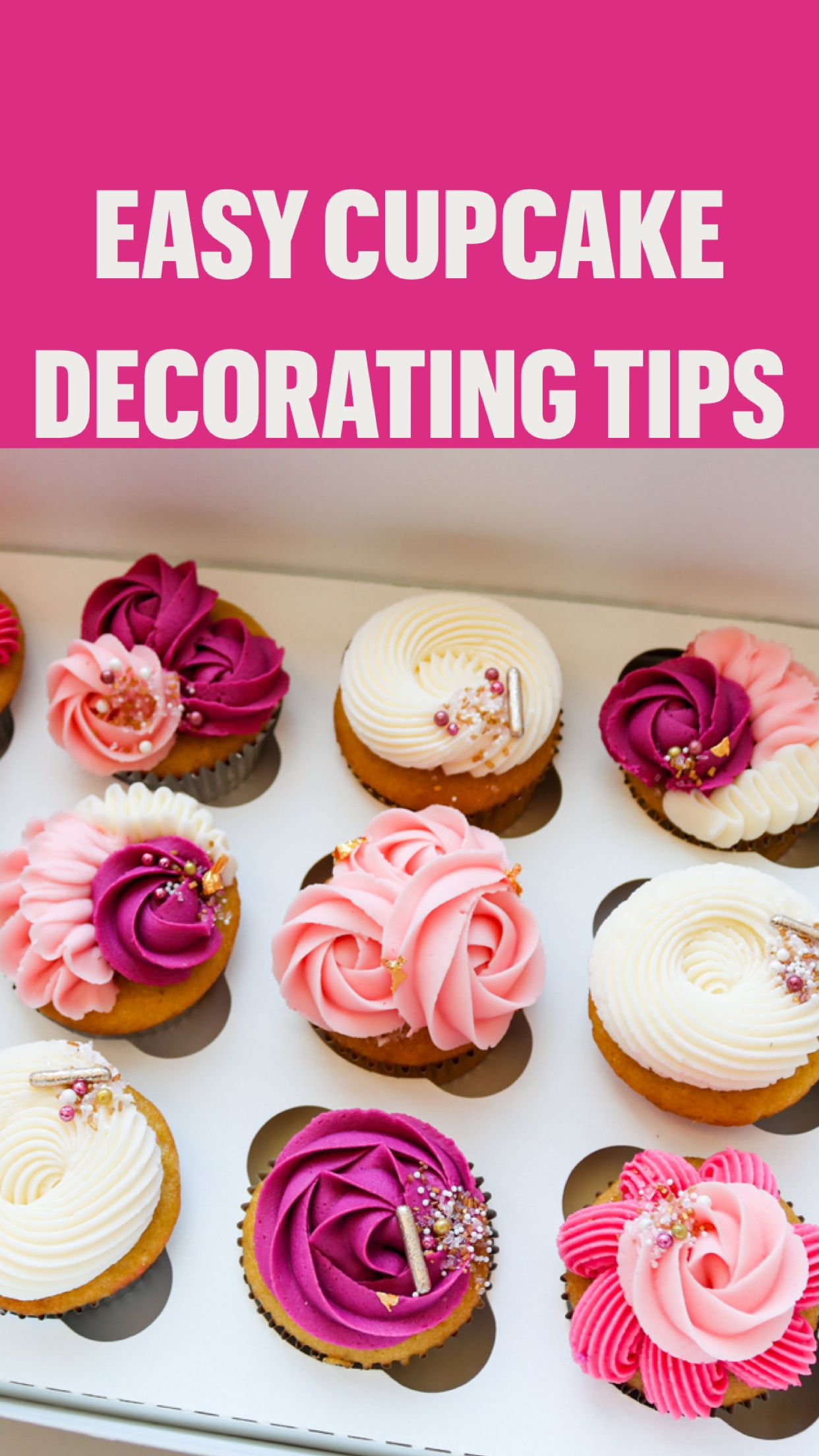 Photo of Easy cupcake decorating tips