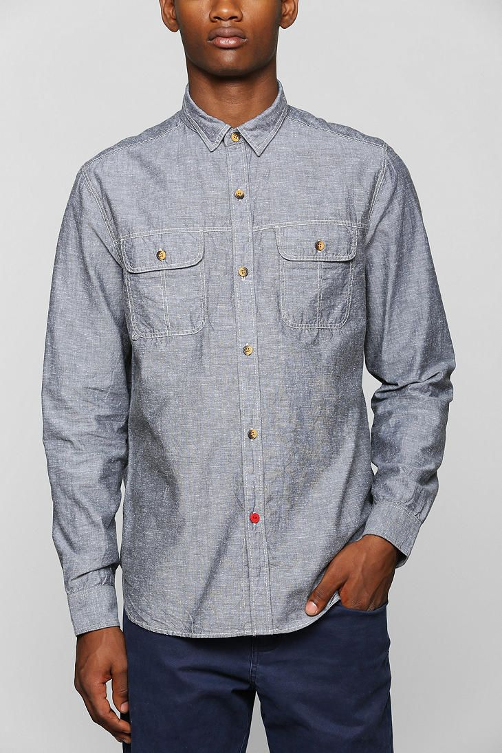 CPO Chambray Button-Down Work Shirt - Urban Outfitters