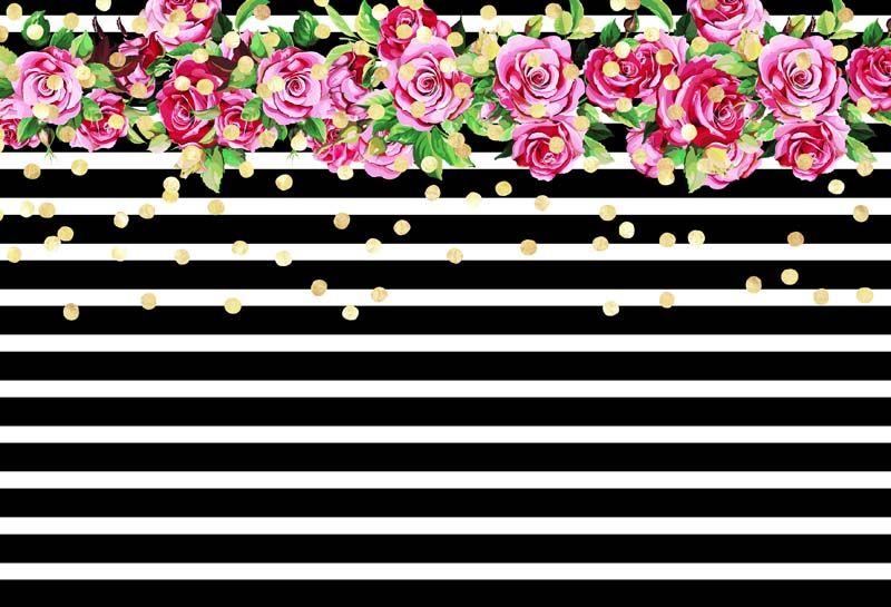 7X5FT Vinyl Studio Backdrop Photography Background Black /& White Stripes Design