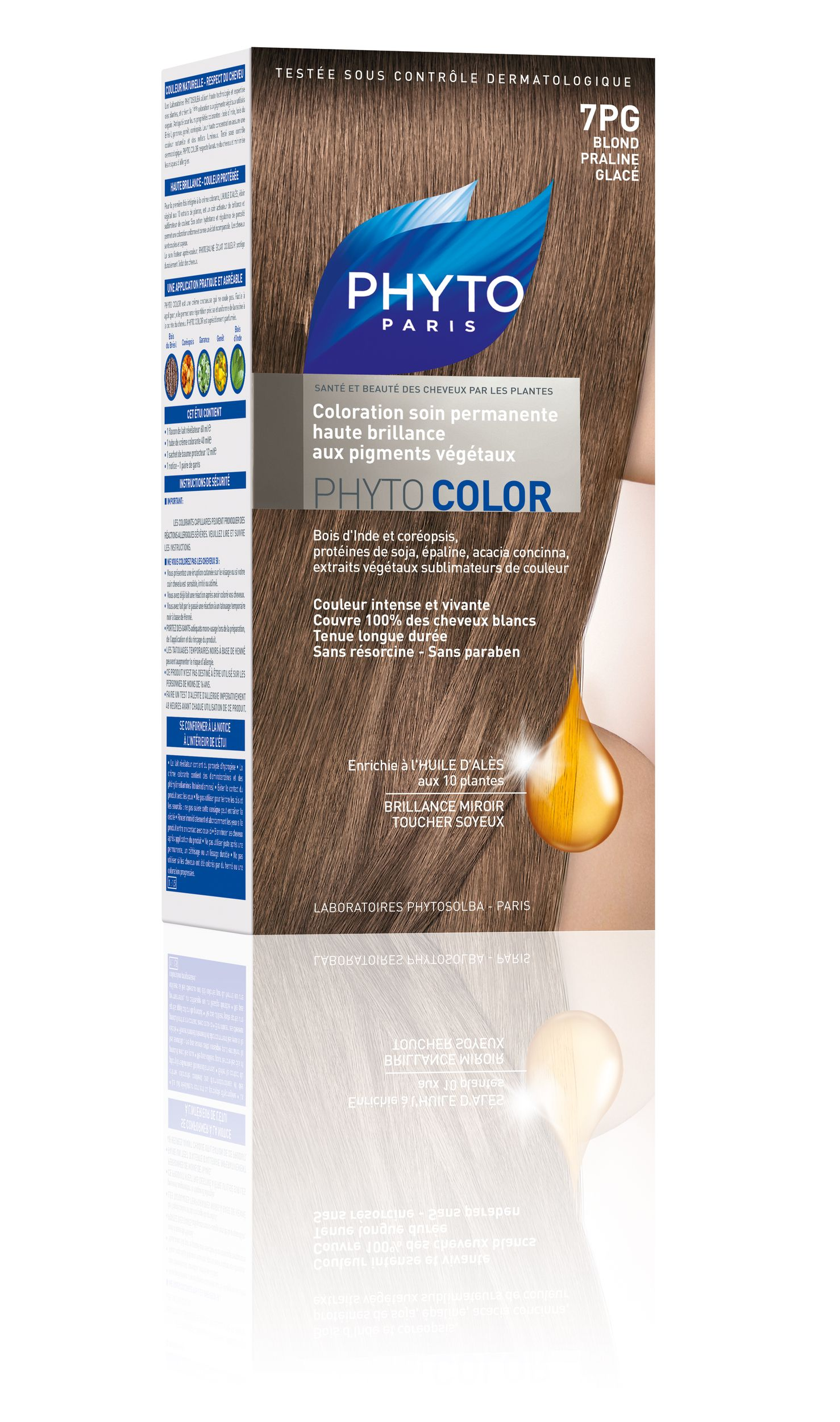 phytocolor coloration permanente tous cheveux nuance 7pg blond pralin glac phyto - Coloration Phyto