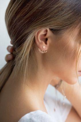 Diese wunderschönen Ohrringe zeigen eine Symbiose aus Glamour und spielerischer Leichtigkeit. Lassen Sie sich inspirieren