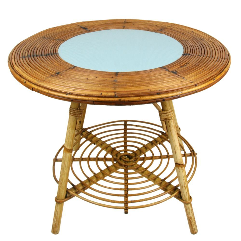 Table De Salon En Rotin Table Basse En Rotin Mon Bazar Vintage Pinterest Vintage