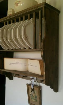 Plate rack with antique book of Psalms & Plate rack with antique book of Psalms | Farmhouse Porch likes ...